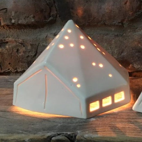 Bell Tent Porcelain Tea Light Holder