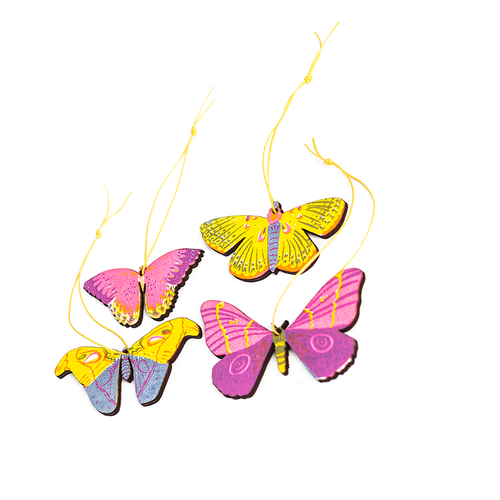 Butterfly Wooden Decorations