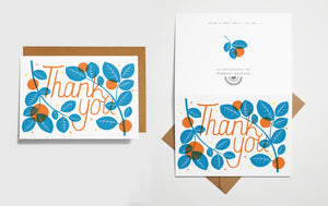 Thank You Card - Oranges