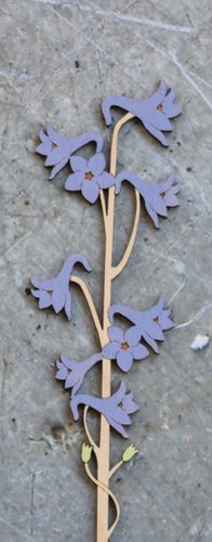 Hand Painted Wooden Larkspur Flower Stem