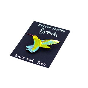 Hummingbird Wooden Brooch