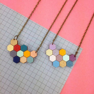 Hexagon Honeycomb Necklace