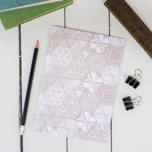Hexie Doodle Taupe A5 Notebook