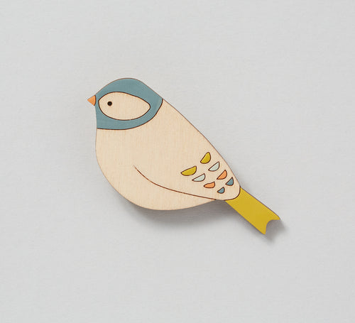 Chaffinch Hand Painted Wooden Brooch