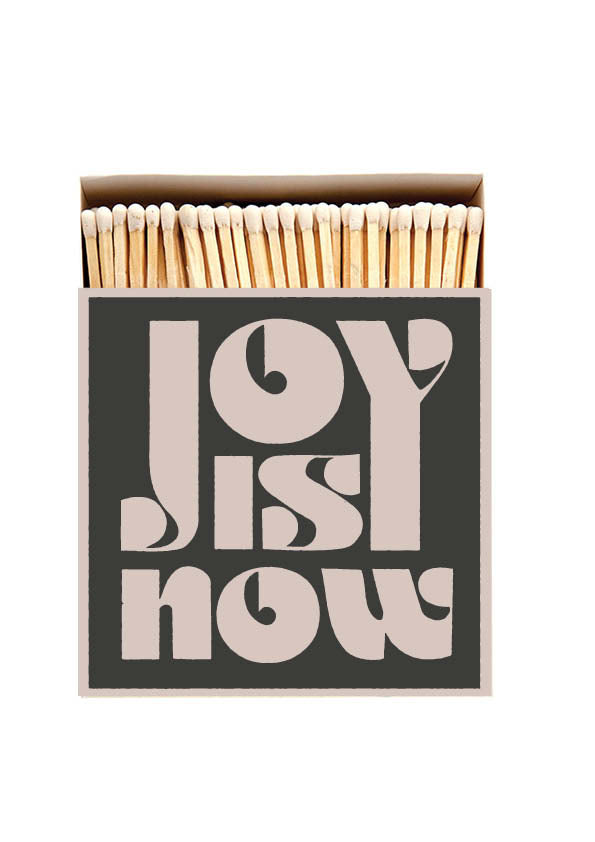 Joy Is Now Large Match Box