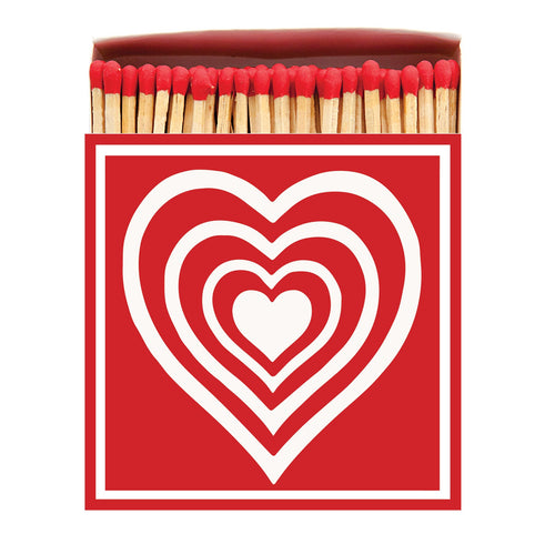 Concentric Heart Large Match Box