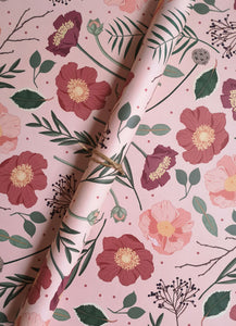 Blush Botanical Wrapping Paper