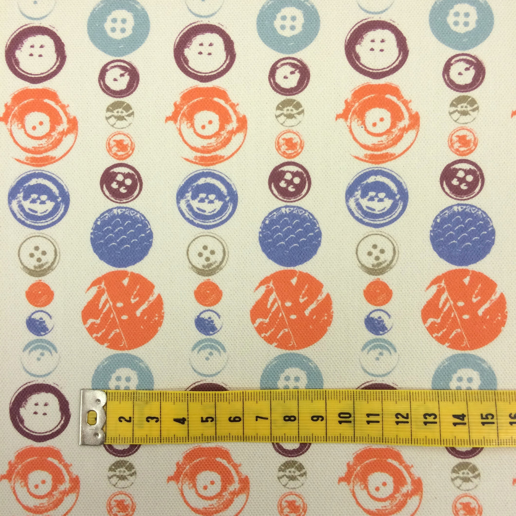 Buttons Fabric by the metre