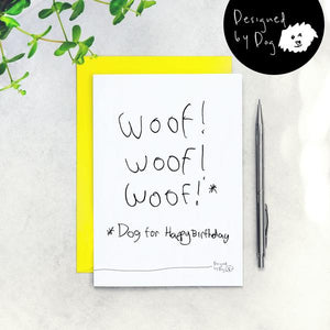Woof Woof Woof Happy Birthday Card
