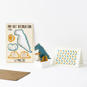 T-Rex Pop Out Card