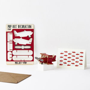 Plane Pop Out Card