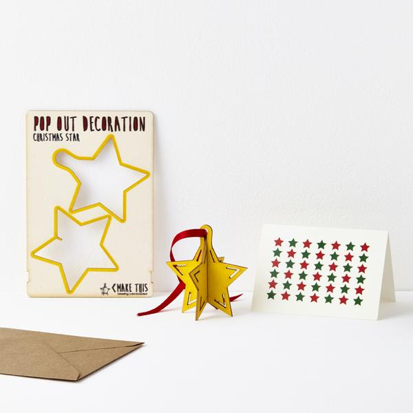 Christmas Star Pop Out Card Decoration