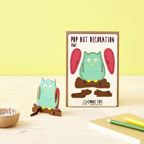 Owl Pop Out Card