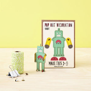 Robot Pop Out Card
