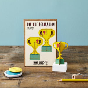 Trophy Pop Out Card