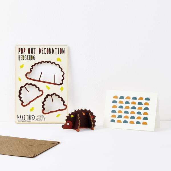 Hedgehog Pop Out Card