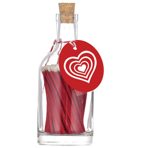 Bottle of Red Matches, Concentric Hearts