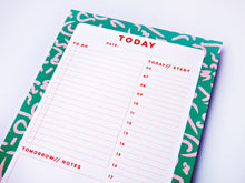Daily Planner - Green Squiggle Design