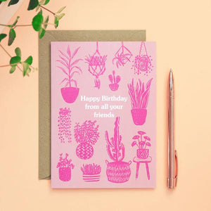 Happy Birthday From All Your Friends Card