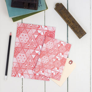 Hexie Doodle Coral Notebook Set