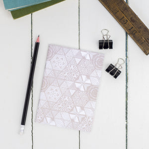 Hexie Doodle Taupe A6 Notebook