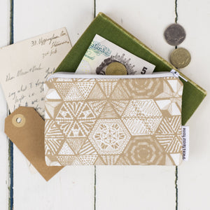 Hexie Doodle Taupe Purse