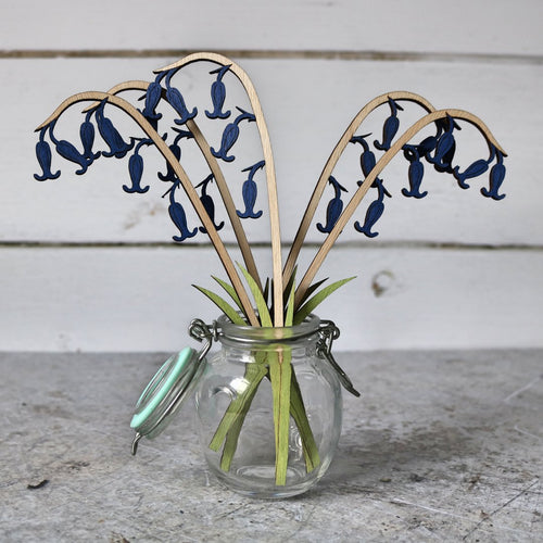 Hand Painted Wooden Bluebell Stem
