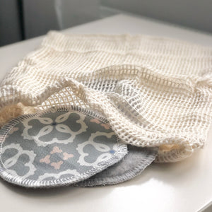 Organic Cotton Mesh Drawstring Bag