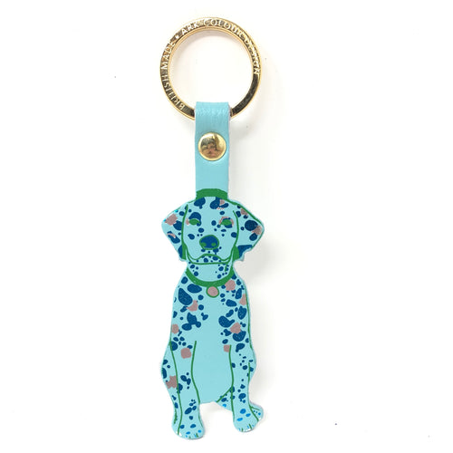 Leather Dog Key Fob - Choice of Colours