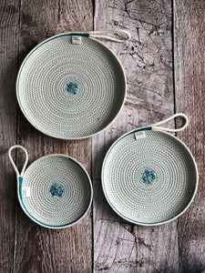Teal Rope Sewn Plates
