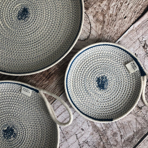 Navy Rope Sewn Plates