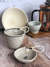 Black Flecked Rope Dishes