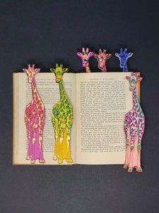 Leather Giraffe Bookmark