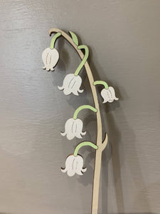 Hand Painted Wooden Lily Of The Valley Stem