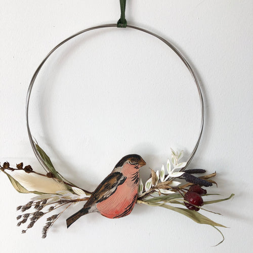 Bullfinch Hanging Wreath