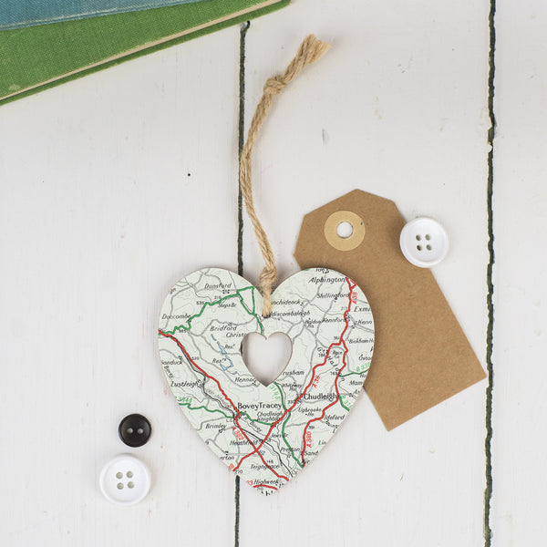 Personalised Map Heart