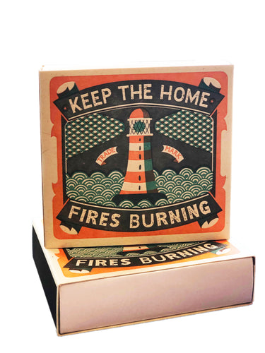 Keep the Home Fires Burning Large Match Box