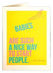 Babies Starting People - New Baby Card