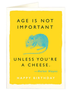 Cheese and Mouse Birthday Card