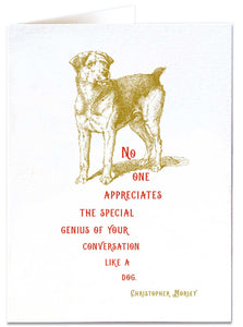 Special Genius Dog Card