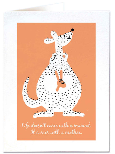 Kangaroo New Baby Card