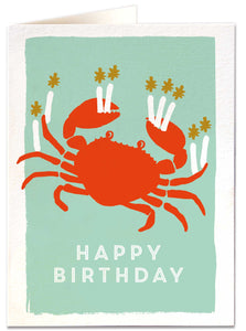 Crab Happy Birthday Card