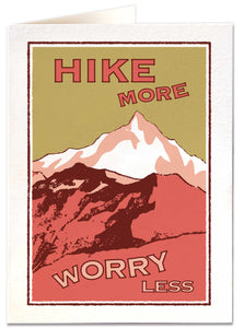 Hike More, Worry Less Card