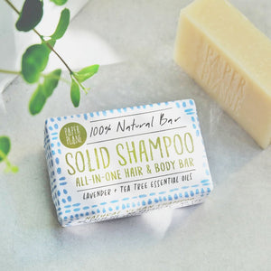 Lavender and Tea Tree Solid Shampoo Bar