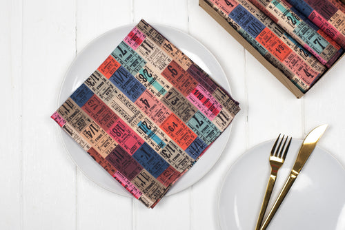 Tickets Napkins, Set of four