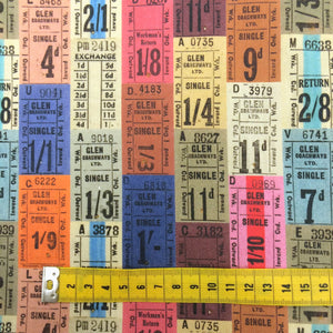 Tickets Fabric by the metre