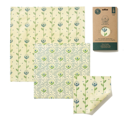 Vegan Food Wrap 3 Sheet Pack