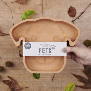 Wooden Dog Bowl