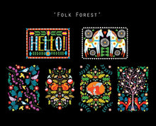 Folk Forest Postcard Set