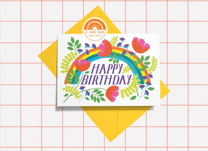 Birthday Blooms Card 5 Pack